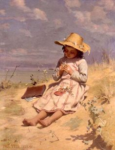 The Young Botanist,Paul Peel (1860 – 1892, Canadian)