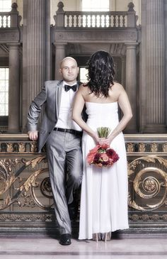 San Francisco Courthouse Wedding -- pretty fall colors