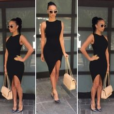 🆑 Asymmetrical High Low Black Dress Asymmetrical high low black dress. Price is rock bottom. If you would like more discount please bundle. 2 Items 10% Off 3 + Items 15% Off GlamVault Dresses High Low