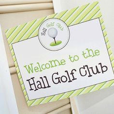 From the personalized welcome sign to the gorgeous custom cake to the 3-hole indoor mini golf course, crafty mama Julie spared no detail for her son Cormick's second birthday! One of my favorite touches has to be the creative food names used on the buffet ...
