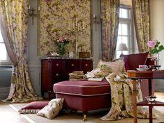Flower print drapes