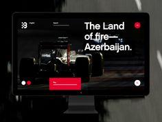 Baku City Circuit by Alexander Laguta Popular Baku City, Ui Web, Mobile Ui, Web Design Inspiration, Interactive Design, One Design, Circuit, Branding, Formula 1