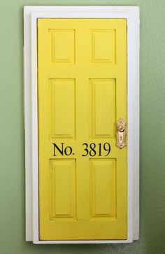 Tooth Fairy door.  Dollhouse door attached to the wall in your child's room.