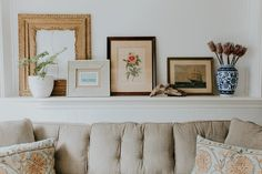 """I grew up visiting antique fairs and thrifting with my family, and it has been so wonderful seeing my husband embrace this hobby and find just as much joy in the unique treasures we're able to incorporate throughout our home. Mid Century Wall Art, Interior Design Photography, Antique Fairs, Florida Home, Florida Living, Vintage Interiors, Home Decor Pictures, Girl House, Diy Frame"