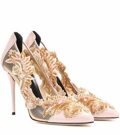 Pumps Alyssa in vernice con decorazione | Oscar de la Renta