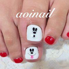 {124BCB2D-DE07-4F0B-8580-F5386E36D974} Toe Nail Color, Toe Nail Art, Toe Nails, Nail Colors, Manicure, Mani Pedi, Animal Nail Designs, Mickey Nails, Cute Pedicures