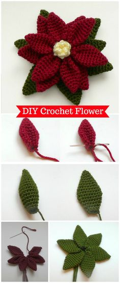 Simple Easy Crochet Flower -  Crochet Flowers - 90+ FREE Crochet Flower Patterns - Page 2 of 18 - DIY & Crafts