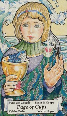 tarot cards page of cups - Google Search