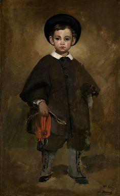 Ritratto di un bambino della famiglia Lange. 1861. Karlsruhe.  Staatliche Kunsthalle.