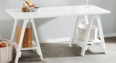 Stationers+Trestle+Desk+&+Desk+Shelf+Pack+(set+of+2)