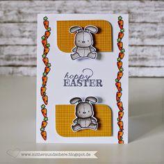 Osterkarte mit Stempeln von Mama Elephant, Easter Card, Scrapbooking