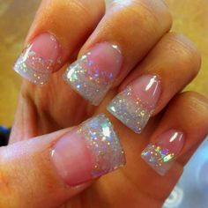 Super Cute! Love Flare Glitter Tips.