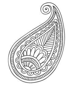 Motif indien desen mandalas, mandalas faciles de dibujar ve bordado. Bordado Paisley, Motif Paisley, Paisley Design, Paisley Pattern, Paisley Doodle, Paisley Art, Mandalas Painting, Mandalas Drawing, Dot Painting