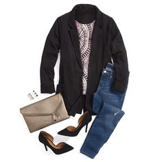 This is me. I really need a black blazer too!