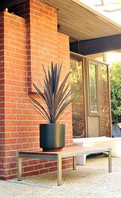 Case Study Cylinder Plant Pot With Plinth, Large - Modernica