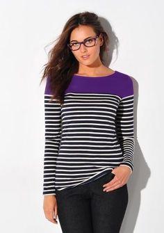 Tričko s okrúhlym výstrihom a s prúžkami #ModinoSK #clothing #stripes #trendy #pruhy #pruzky #fashion #trend #styl #obleceni