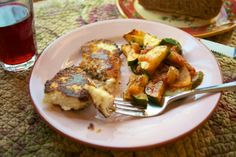 Italian Zucchini Saute w/ Parmesan-Herb Breaded Tilapia: Simple Living and Eating