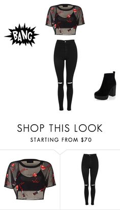 """Untitled #650"" by kimberly58227 ❤ liked on Polyvore featuring Topshop and New Look"