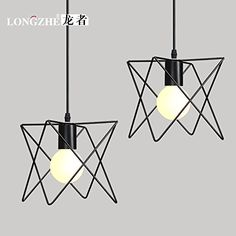 BGTJZY Pendant Lighting Chandelier for Kitchen Island and Dining Room Lving Room Bedroom industrial airl light iron single Head width 18cm high 20 cm Pendant Lights -- Check out the image by visiting the link-affiliate link.