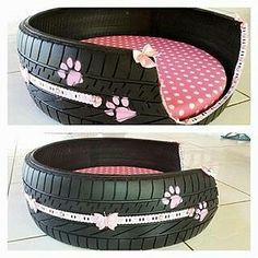 Sobrou pneu? Reutilize. Ideia #oficinadeideias #feitoamão #façavocêmesmo #artesanato #pet #reciclagem #reciclaje #recicle #pets