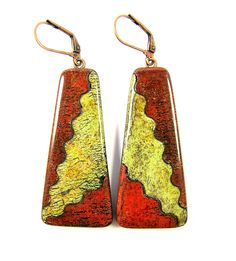 Fabulous Faux Collection - Southwestern Landscapes Series - Red Mountain Thunder Earrings | by Lynda Moseley Diva Designs Inc