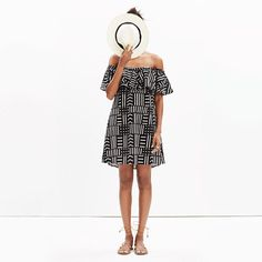 An off-the-shoulder cover-up dress in a bold print inspired by traditional Malian textiles. So easy for a weekend hang (no beach necessary).  <ul><li>True to size.</li><li>Falls above knee.</li><li>Cotton.</li><li>Machine wash.</li><li>Import.</li></ul>