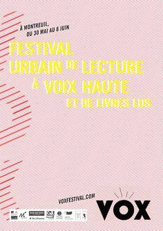 VOX, festival urbain de lectures à voix haute. Du 30 mai au 8 juin 2014 à Montreuil.