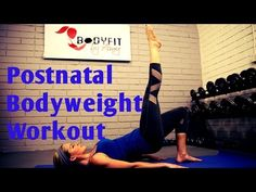 This 30 minute workout uses both bodyweight and dumbbell exercises to safely get your body back into exercise after having a baby. Get your heart rate up for...