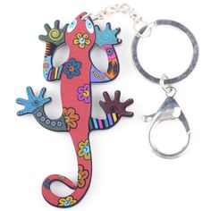 Newest Gecko Marvel Acrylic Key Chain For Keys Women Girl Decorative Keychain Charm Pendant $5.99 => Save up to 60% and Free Shipping => Order Now! #fashion #woman #shop #diy www.ajewelry.net/...