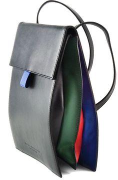 "Accordion gusset in multi color ""Crumb"" bag by Hester van Eeghen Tote Handbags, Purses And Handbags, Leather Handbags, Leather Bag, Beautiful Handbags, Beautiful Bags, Best Bags, Denim Bag, Leather Working"