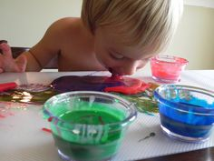 100% edible paint recipe from Play at Home Mom. Pinned by SPD Blogger Network. For more sensory-related pins, see http://pinterest.com/spdbn
