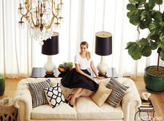 Inside Lauren Conrad's Beverly Hills Penthouse - The Living Room from #InStyle