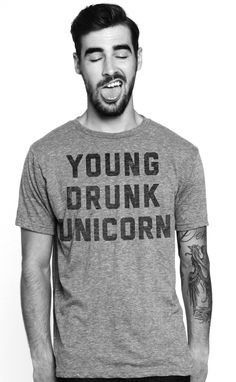 young drunk unicorn tee