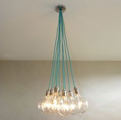 9 Cluster CUSTOM Turquoise Silver Nickle by HangoutLighting