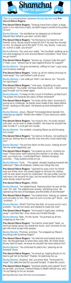 A conversation between Pre-Serum!Steve Rogers and Bucky Barnes