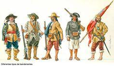 Os bandeirantes - portuguese explorers of inland Brasil - 16th/17th century