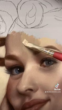 Painting Portraits, Art Painting Gallery, Artist Painting, Portrait Art, Art Drawings Sketches Simple, Pencil Art Drawings, Painting Process, Painting Techniques, Instagram Artist