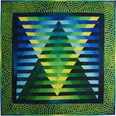 Illusion #49 © 2012 art quilt by Caryl Bryer Fallert, Paducah KY
