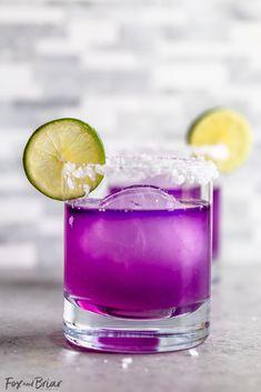 Magical Color Changing Margarita Recipe - Fox and Briar Blood Orange Margarita, Skinny Margarita, Margarita Mix, Margarita Recipes, Drinks With Grenadine, Tequila, Spanish Gin, Girls Night Drinks, Cocktail Shaker