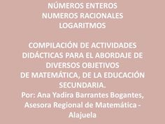 Compilación de actividades didácticas para matemáticas.
