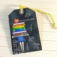Teacher Tag by Naki Rager Handmade Teachers Day Cards, Teacher Cards, Teacher Appreciation Gifts, Teacher Gifts, Paper Paper, Paper Crafts, File Decoration Ideas, Front Cover Designs, Scrapbook Cover