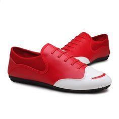 6ada893f buty mężczyźni moda na co dzień pu Skórzane poślizgu na markę mężczyzn buty  marki wysokiej jakości