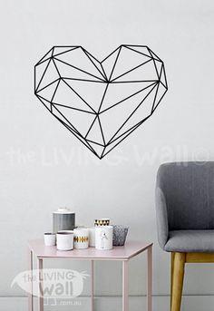 Geometrische Herz Wall Decal geometrische Herz von LivingWall
