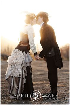 Blog - Denver Wedding Photographer | Rustic, Romantic, Colorado - steampunk engagement shoot