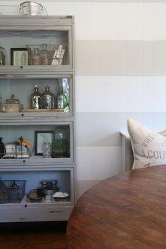 Barrister bookcase Bookcase Bar, Bookcase Makeover, Barrister Bookcase, Bookcase Styling, Furniture Makeover, Bookcases, Bookcase Decorating, Glass Bookcase, Furniture Refinishing
