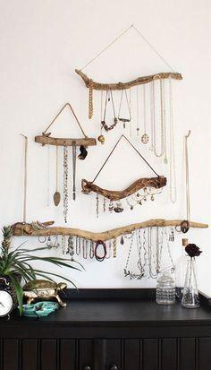 Sieraden worden veel te vaak opgeborgen op plekken waar je ze niet kunt zien!... #diyjewelry