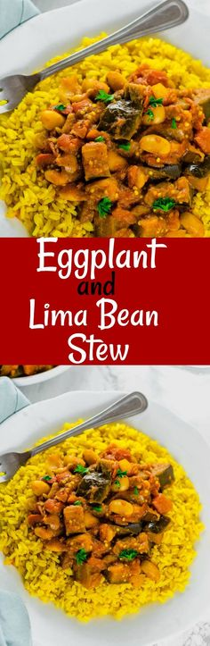Use edamame instead of Lima beans - Eggplant And Lima Bean Stew so flavorful and economical Best Gluten Free Recipes, Diet Recipes, Vegetarian Recipes, Healthy Recipes, Healthy Foods, Healthy Eating, Eggplant Stew Recipe, Eggplant Recipes, Lima Bean Recipes