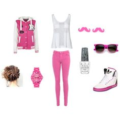 So pink 👊 Cool Outfits, Summer Outfits, Casual Outfits, Mode Swag, Leila, Little Fashion, Looks Cool, Swagg, Dressing
