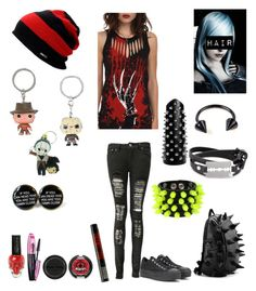 """Style #66"" by katlanacross ❤ liked on Polyvore featuring Boohoo, Converse, Mia Bag, McQ by Alexander McQueen, Volcom, Sugarpill, Manic Panic, L'Oréal Paris and Freddy"