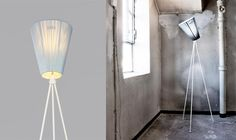 Northern Lighting Oslo Wood Vloerlamp 165 cm x Ø 26 cm - Lichtblauw/Wit Oslo, Wood Floor Lamp, Wood Lamps, Nordic Design, Scandinavian Design, Studio Lamp, Luminaire Design, Led Lampe, Interiors